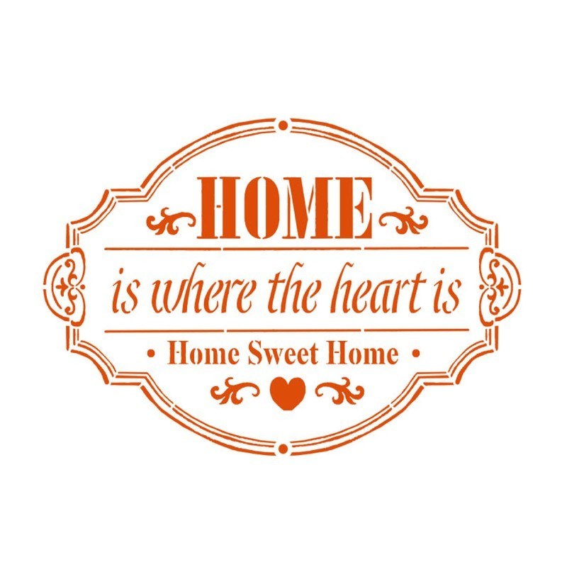Stamperia Stencil D  cm. 20x15 Home Sweet Home