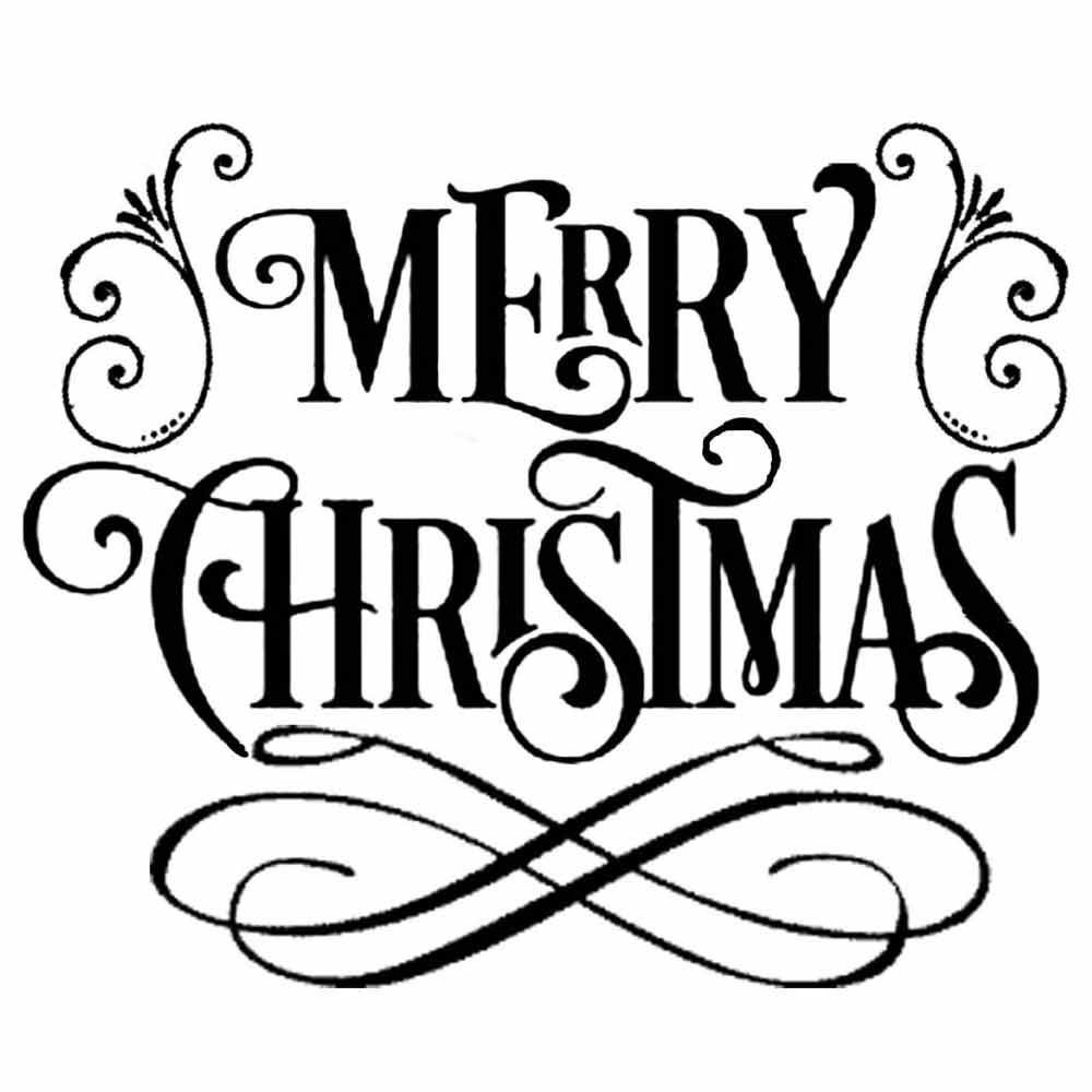 It's just a graphic of Impertinent Merry Christmas Stencil Free Printable