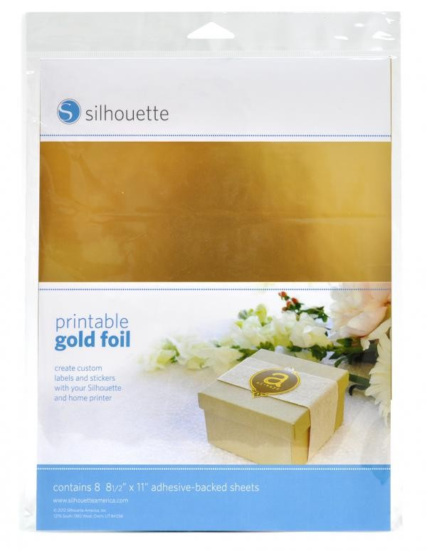 Silhouette America Printable Gold Foil