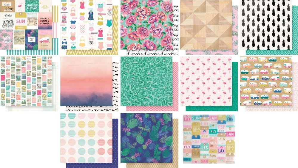 American Crafts Shimelle Oasis Paper Pack (25 sheets)