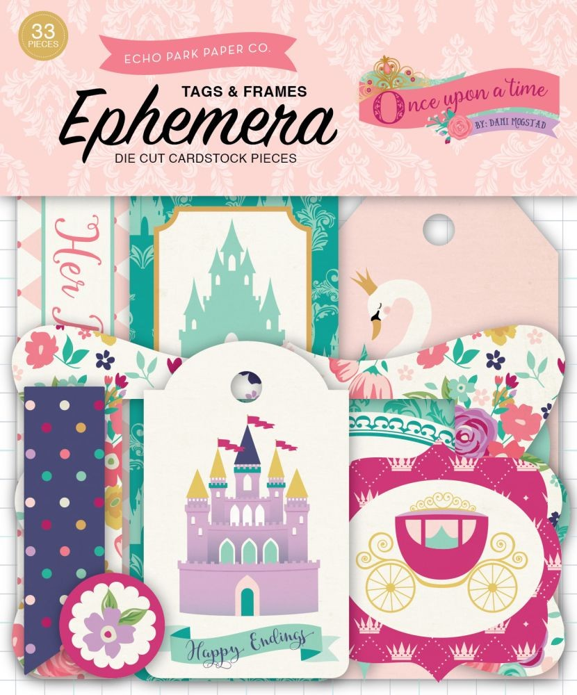 Once Upon A Time-Princess Frames & Tags Ephemera by Echo Park for ...