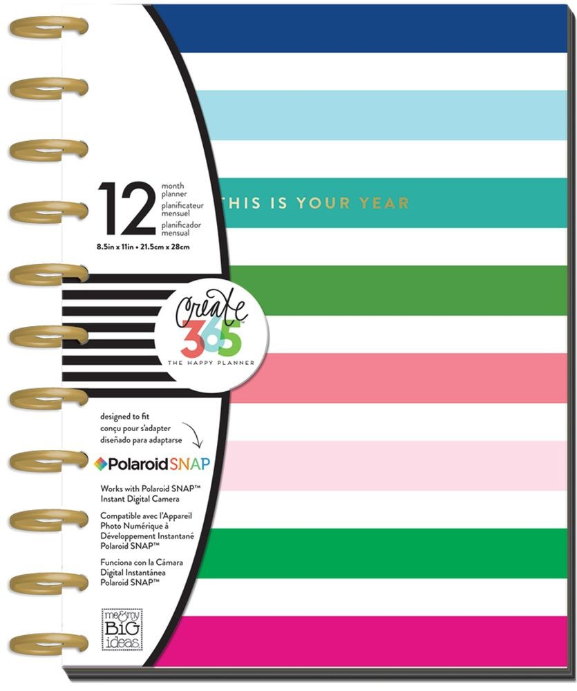 Me & My Big Ideas Create 365 Big Happy Planner - Modern Brights - Undated Planner with Disc Binding