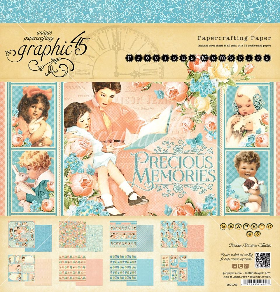 Graphic 45 Precious Memories 12x12 Pad