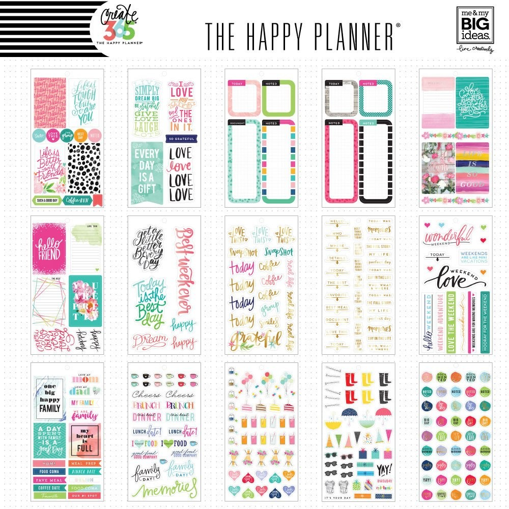 Create 365 the happy planner sticker value pack memory for Me my big ideas planner