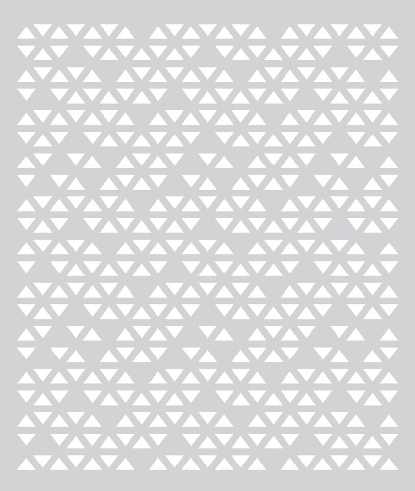 Basic Grey Prism Hero Arts - Stencil - Triange Patterned Stencil