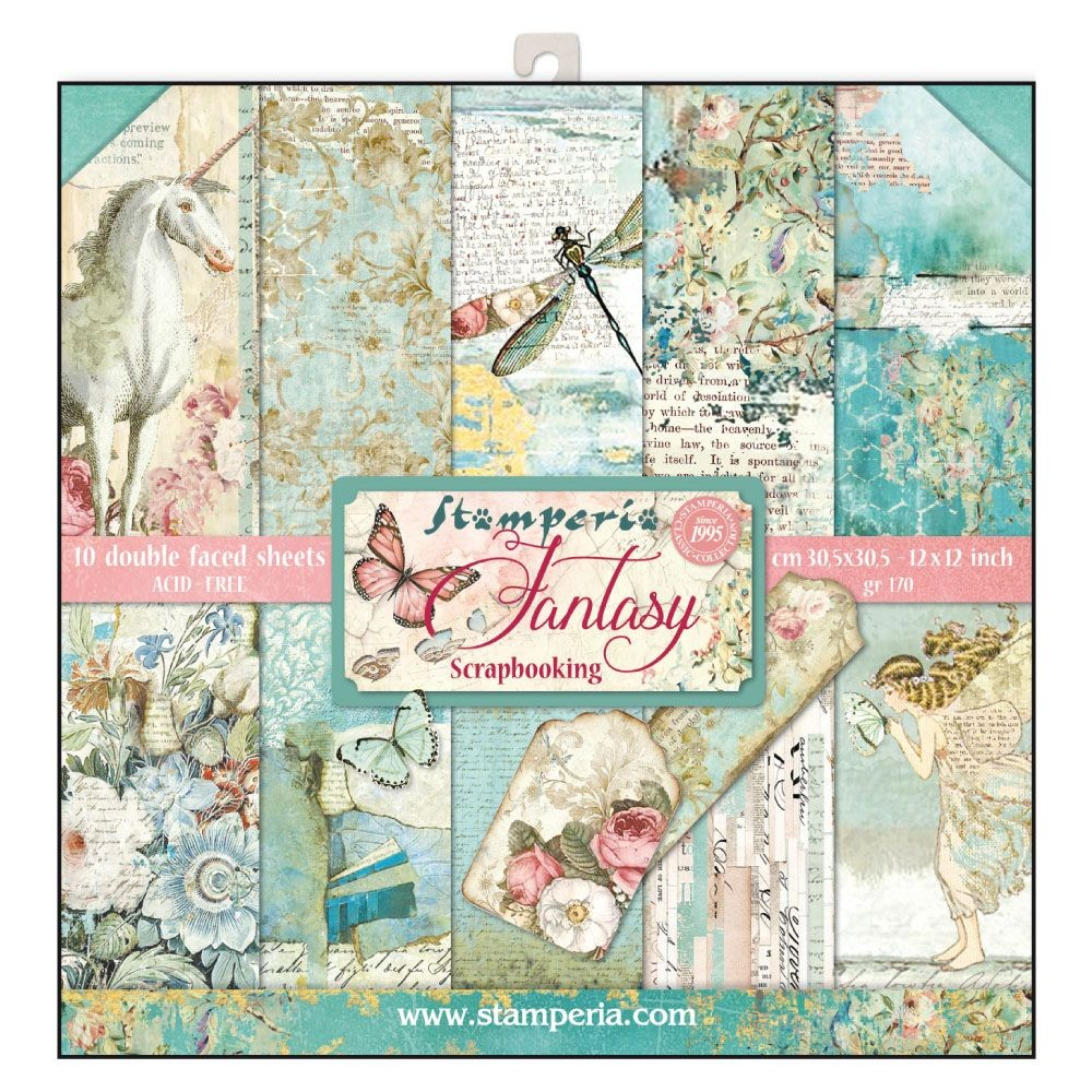 Stamperia 12x12 Paper Pad - Wonderland (10 Double Sided Sheets)