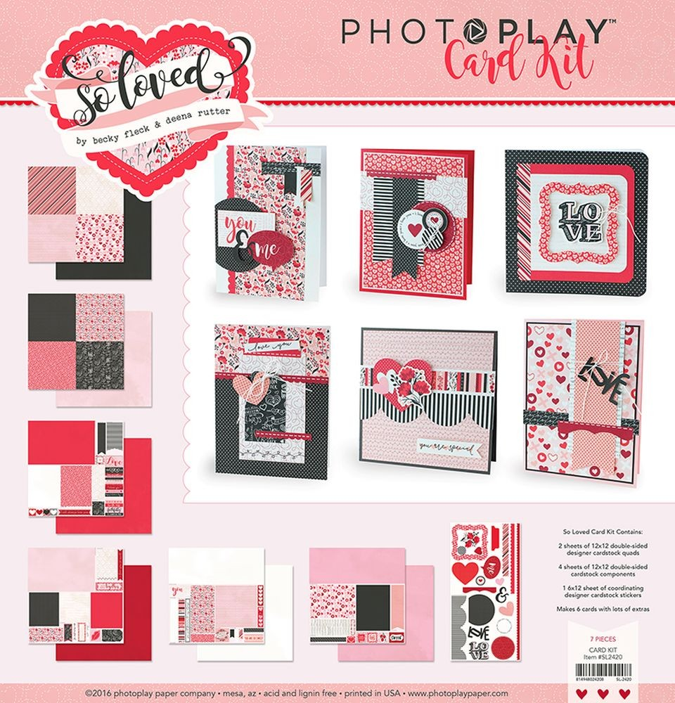 So Loved Valentine Card Kit by PhotoPlay for Card Making