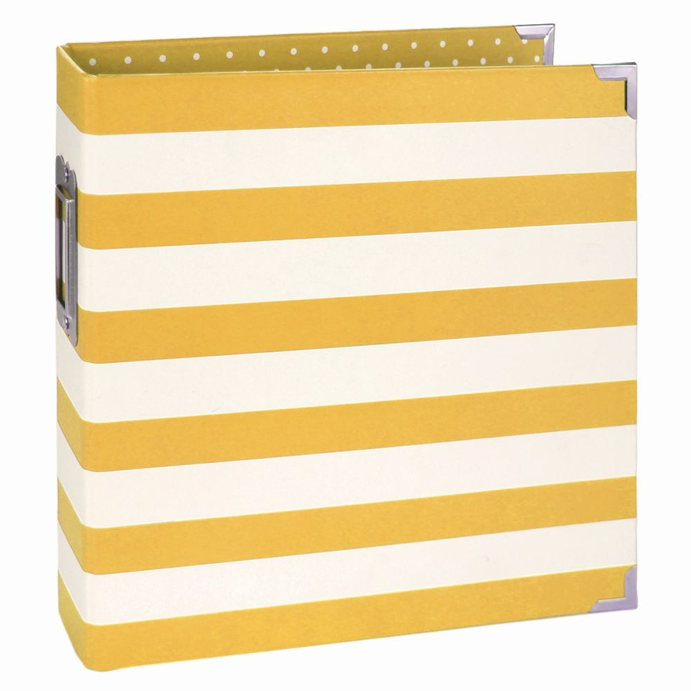 Simple Stories SN@P! 6x8 Designer Binder - Yellow Stripe