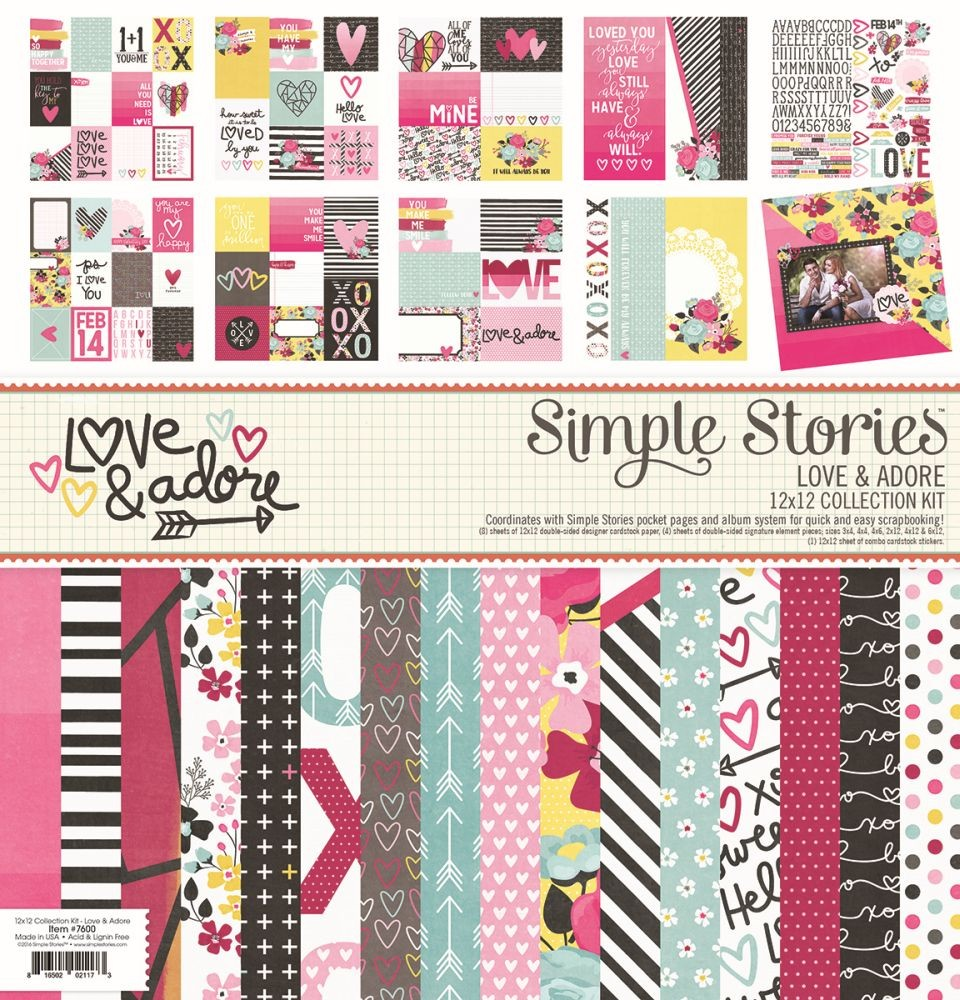 Simple Stories Love & Adore 12x12 Collection Kit