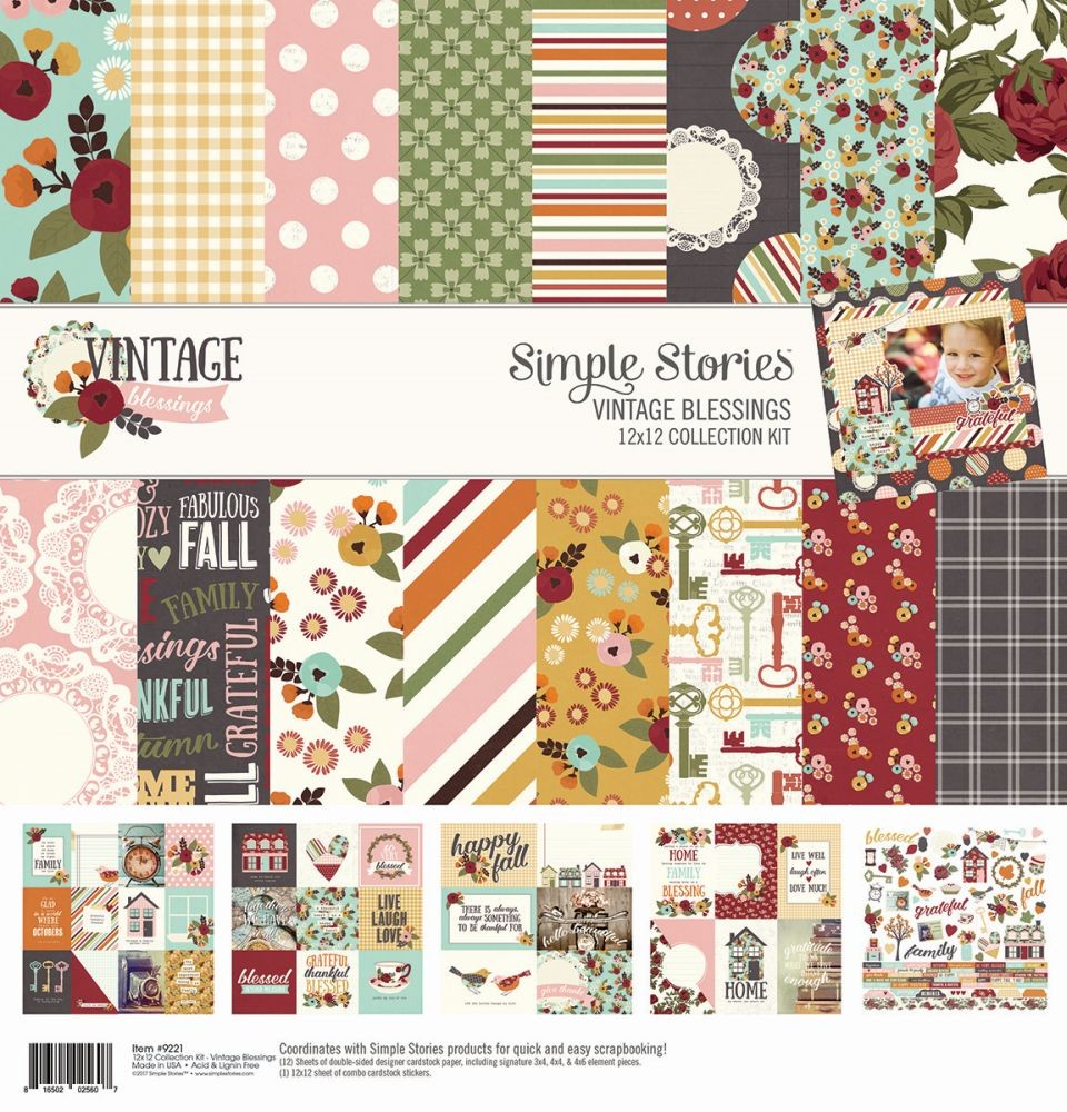 Simple Stories Vintage Blessings Collection Kit