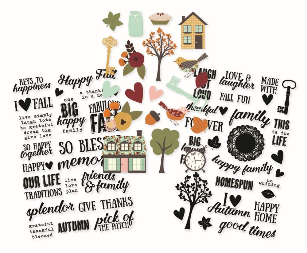 Simple Stories Vintage Blessings Clear Stickers