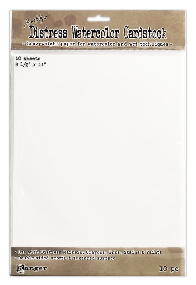 Tim Holtz Distress Watercolor Cardstock (10 Sheets)