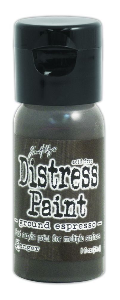 Tim Holtz Distress Paints 1oz. Flip Cap - Ground Espresso