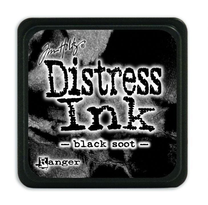 Tim Holtz Distress Mini Ink Pads - Black Soot by Ranger