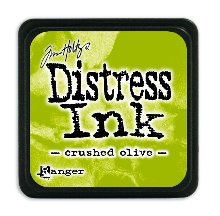 Tim Holtz Distress Mini Ink Pads - Crushed Olive by Ranger