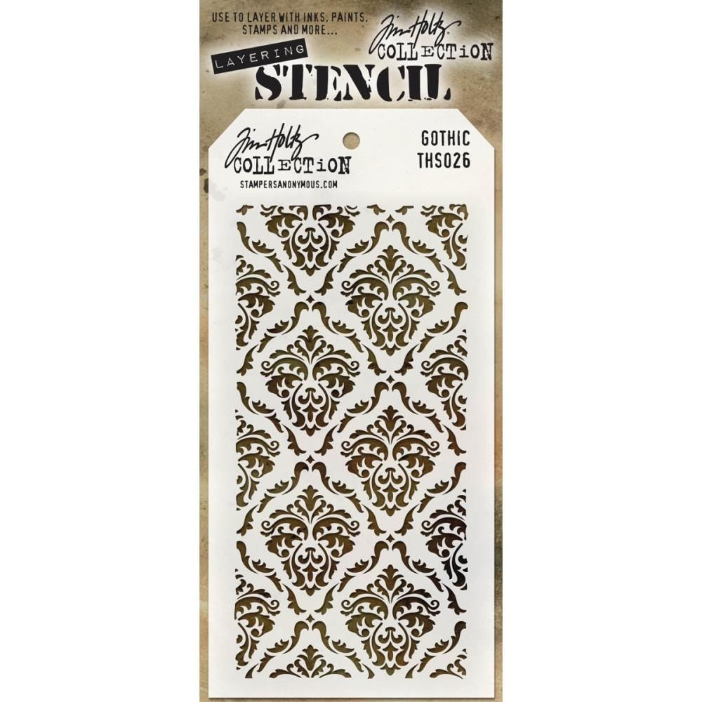 Stamper Anonymous Gothic Stencil - Layering Stencil