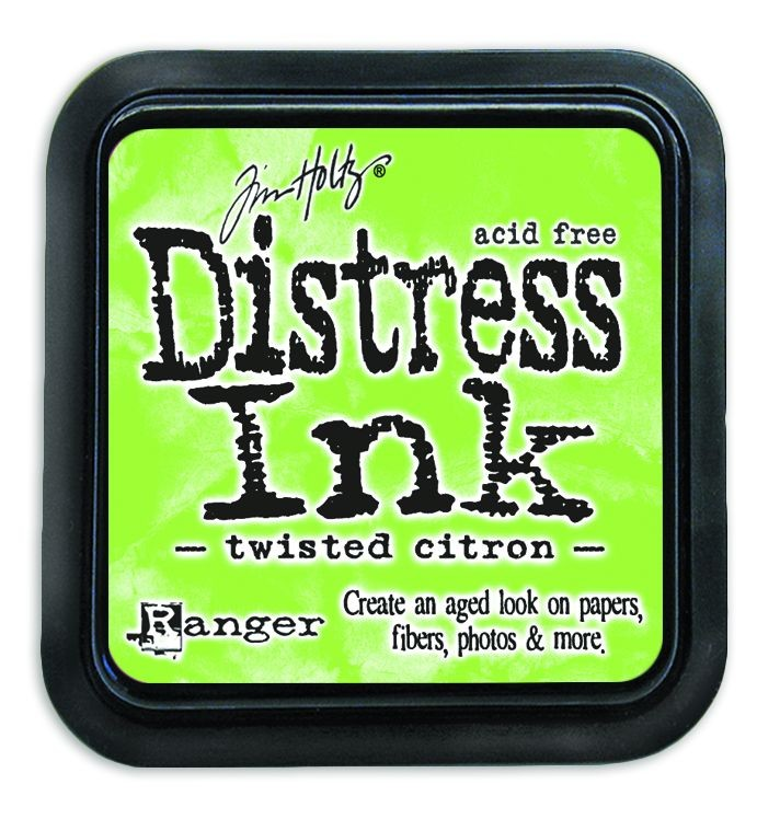 Twisted Citron Distress Ink Pad by Ranger - Tim Holtz Distress Ink May Color Of The Month