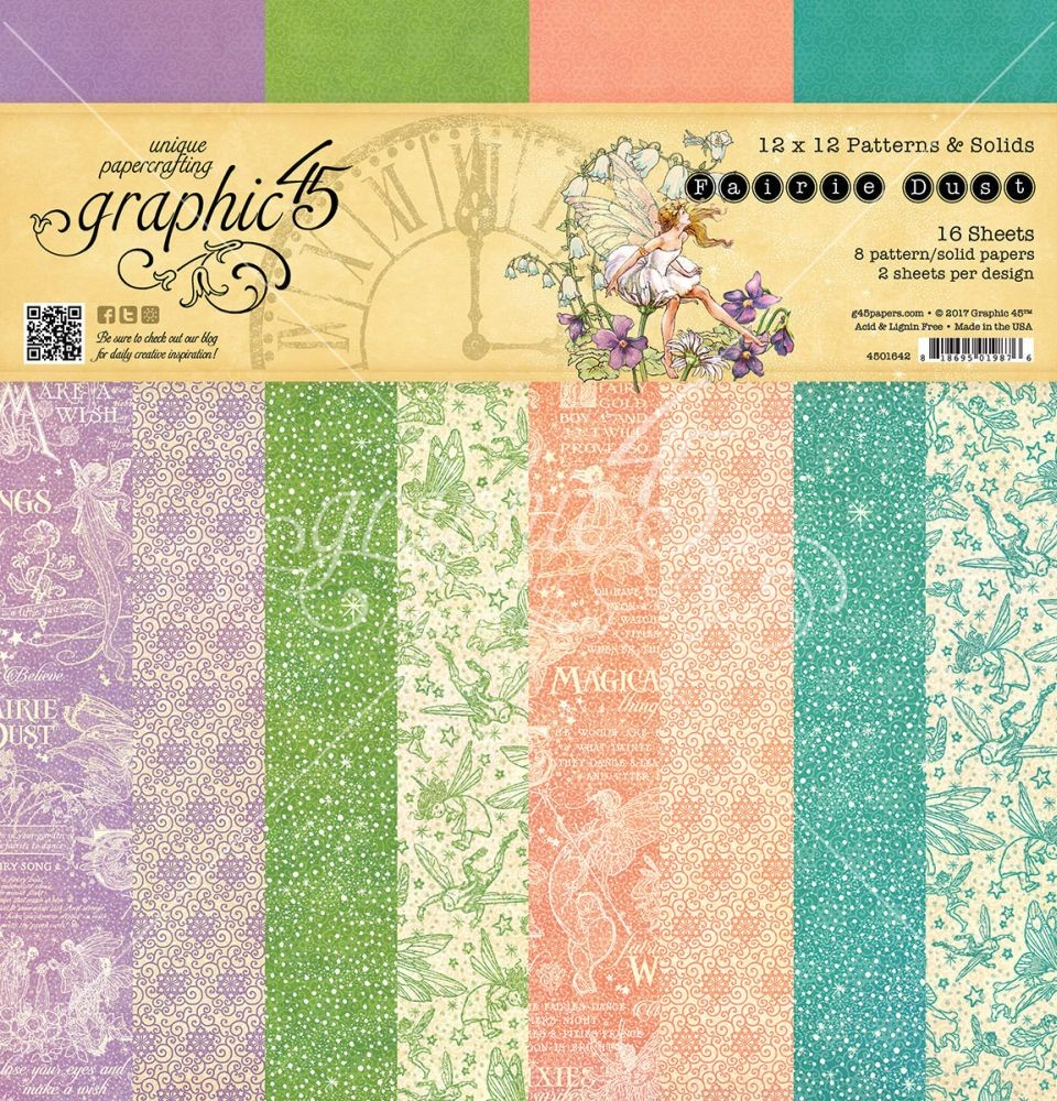Graphic 45 Fairie Dust 12x12 Patterns & Solid Pad