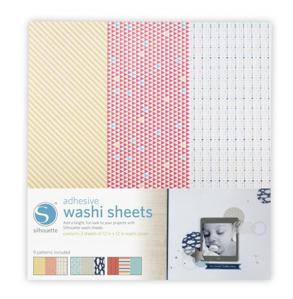 Silhouette America Silhouette 12x12 Adhesive Washi Sheets