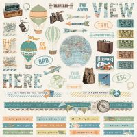 Simple Stories Simple Vintage Traveler Combo Sticker