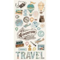 Simple Stories Simple Vintage Traveler 6x12 Chipboard