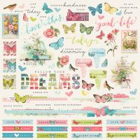 Simple Stories Simple Vintage Botanicals Combo Sticker