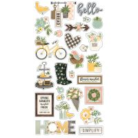 Simple Stories Spring Farmhouse 6x12 Chipboard