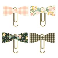 Simple Stories Spring Farmhouse Bow Clips