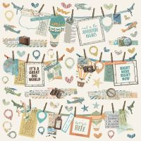 Simple Stories Simple Vintage Traveler Banners Sticker