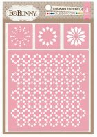 Bo Bunny Kaleidoscope Stickable Stencil