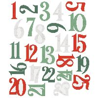 Simple Stories Simple Vintage Country Christmas Number Pocket Pieces