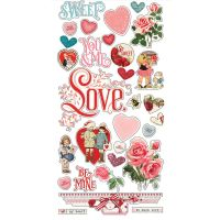 Simple Stories Simple Vintage My Valentine 6x12 Chipboard