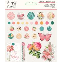 Simple Stories Simple Vintage Garden District Decorative Brads