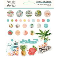 Simple Stories Simple Vintage Coastal Decorative Brads