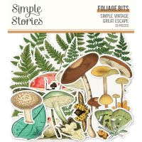 Simple Stories Simple Vintage Great Escape Foliage Bits & Pieces