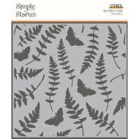 Simple Stories Simple Vintage Great Escape 6x6 Stencil Butterfly Fern