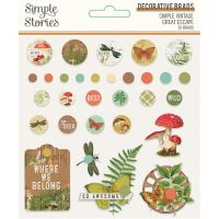 Simple Stories Simple Vintage Great Escape Decorative Brads