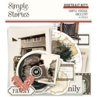 Simple Stories Simple Vintage Ancestry - Portrait Bits & Pieces