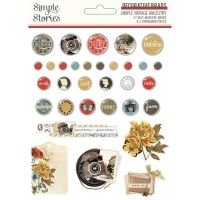 Simple Stories Simple Vintage Ancestry - Decorative Brads