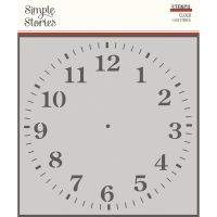 Simple Stories Simple Vintage Ancestry - 6x6 Stencil - Clock