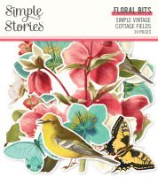 Simple Stories Simple Vintage Cottage Fields - Floral Bits & Pieces