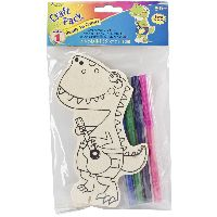 Darice Wood Craft Pack-dinosaur