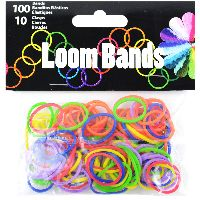 Midwest Design Loom Bands 100/pkg W/10 Clasps-primary Assortment
