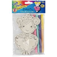 Darice Wood Craft Pack-princess