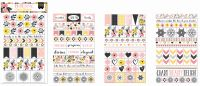 Bo Bunny Petal Lane Clear Stickers