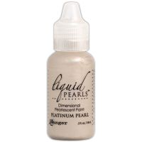 Ranger Liquid Pearls Dimensional Pearlescent Paint .5oz-platinum