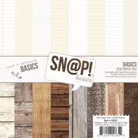 Simple Stories SN@P! Basics 6x6 Wood & Notebook Basics Pad