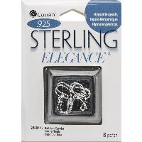 Cousin Sterling Elegance Genuine 925 Silver Beads & Findings-small Ball Hooked Earrings 8/pkg