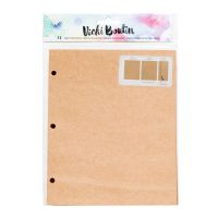 American Crafts Vicki Boutin Mixed Media - Journaling Kraft Paper Refill - (12 Sheets)