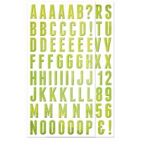 We R Memory Keepers Feelin' Groovy Collection - Self Adhesive Alphabet Chipboard with Glitter Accents